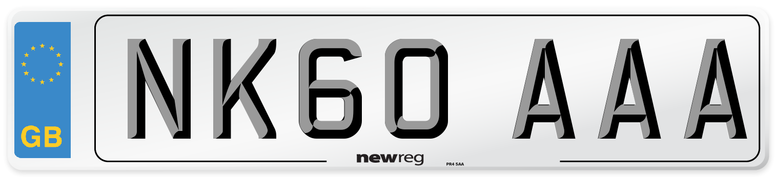 NK60 AAA Number Plate from New Reg