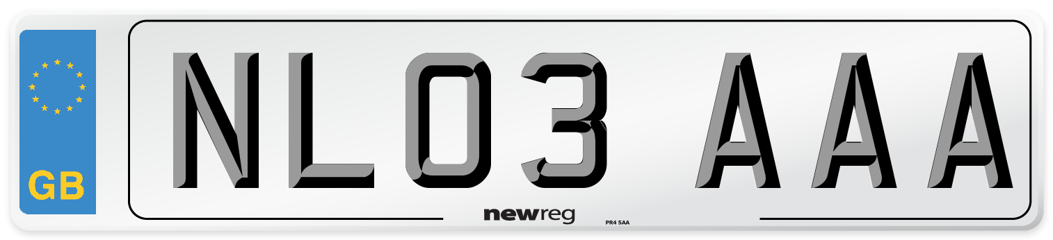 NL03 AAA Number Plate from New Reg