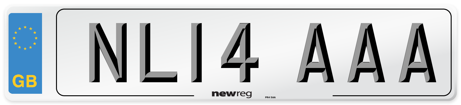NL14 AAA Number Plate from New Reg
