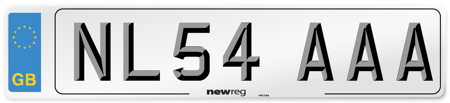 NL54 AAA Number Plate from New Reg