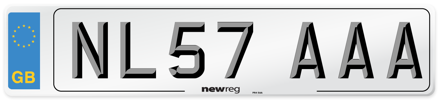 NL57 AAA Number Plate from New Reg