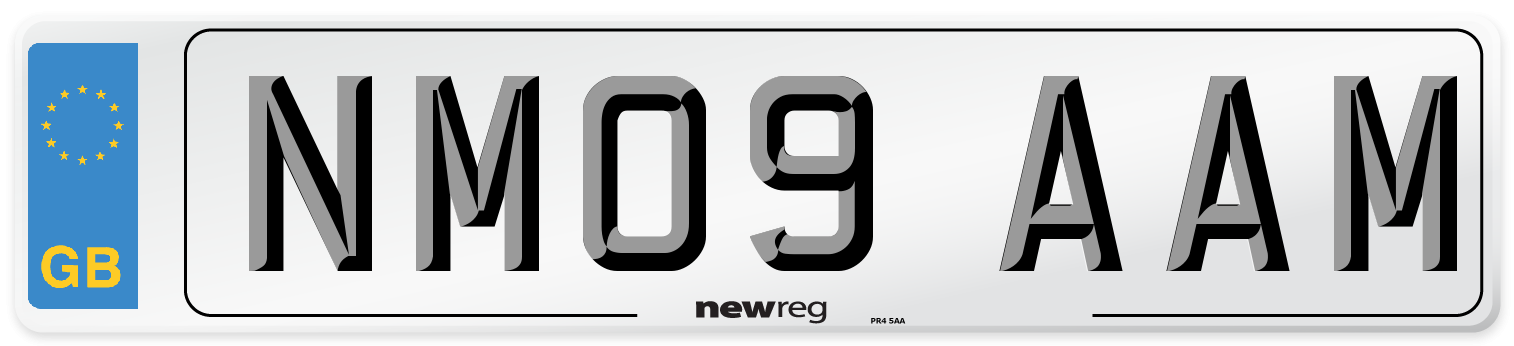 NM09 AAM Number Plate from New Reg
