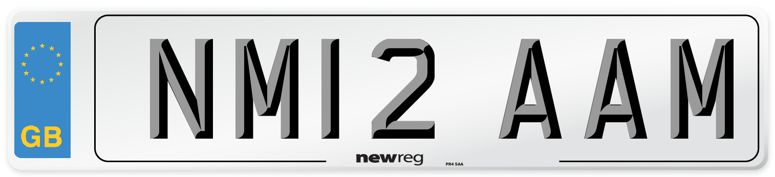 NM12 AAM Number Plate from New Reg