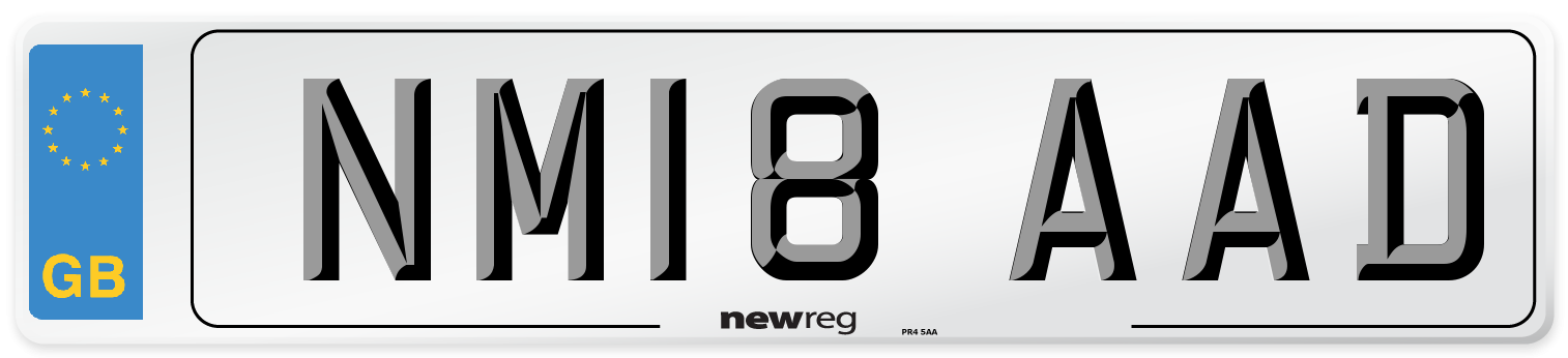 NM18 AAD Number Plate from New Reg