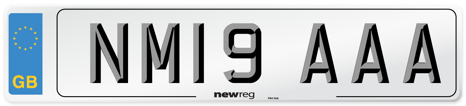 NM19 AAA Number Plate from New Reg