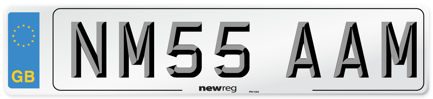 NM55 AAM Number Plate from New Reg