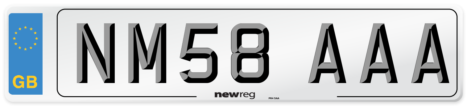 NM58 AAA Number Plate from New Reg