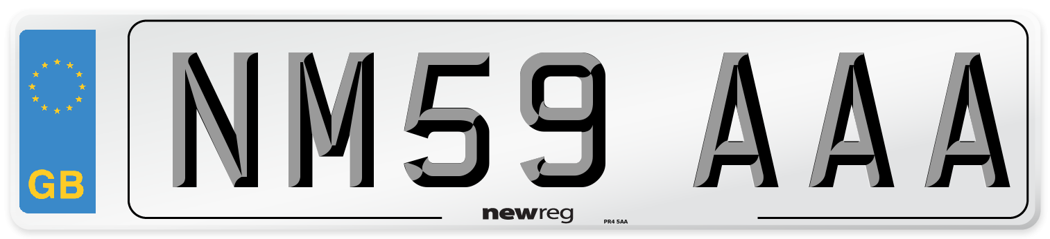 NM59 AAA Number Plate from New Reg