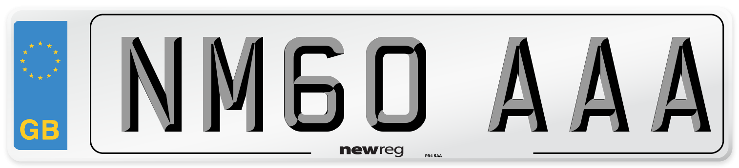 NM60 AAA Number Plate from New Reg