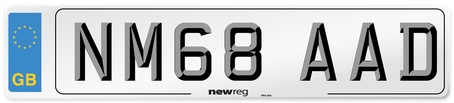 NM68 AAD Number Plate from New Reg