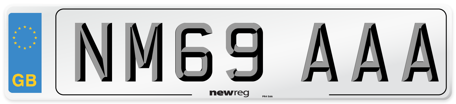 NM69 AAA Number Plate from New Reg