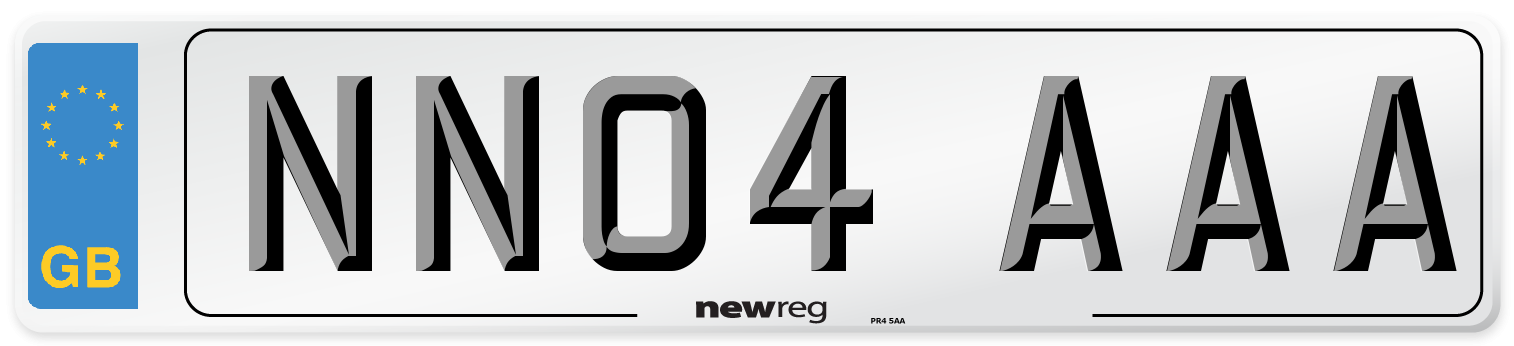 NN04 AAA Number Plate from New Reg