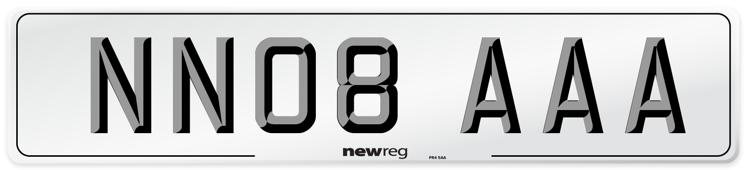 NN08 AAA Number Plate from New Reg
