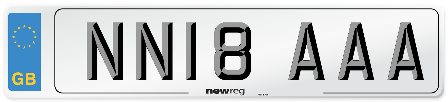 NN18 AAA Number Plate from New Reg
