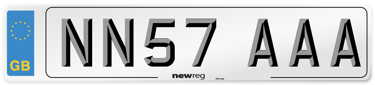 NN57 AAA Number Plate from New Reg