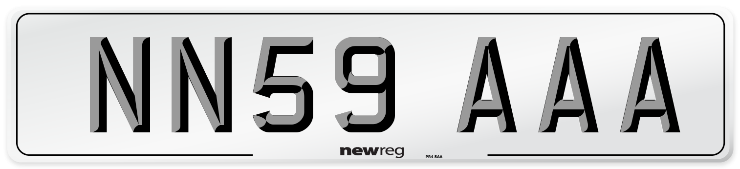 NN59 AAA Number Plate from New Reg