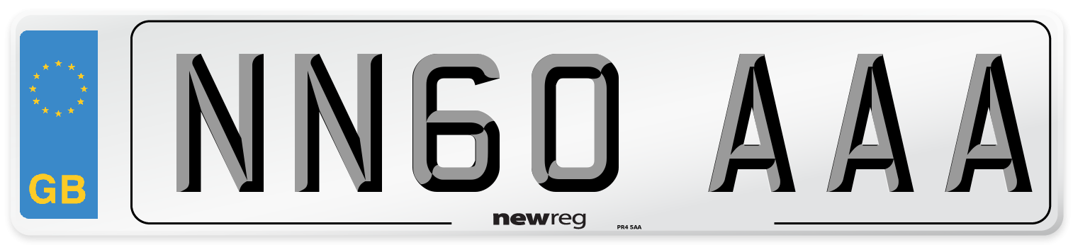 NN60 AAA Number Plate from New Reg