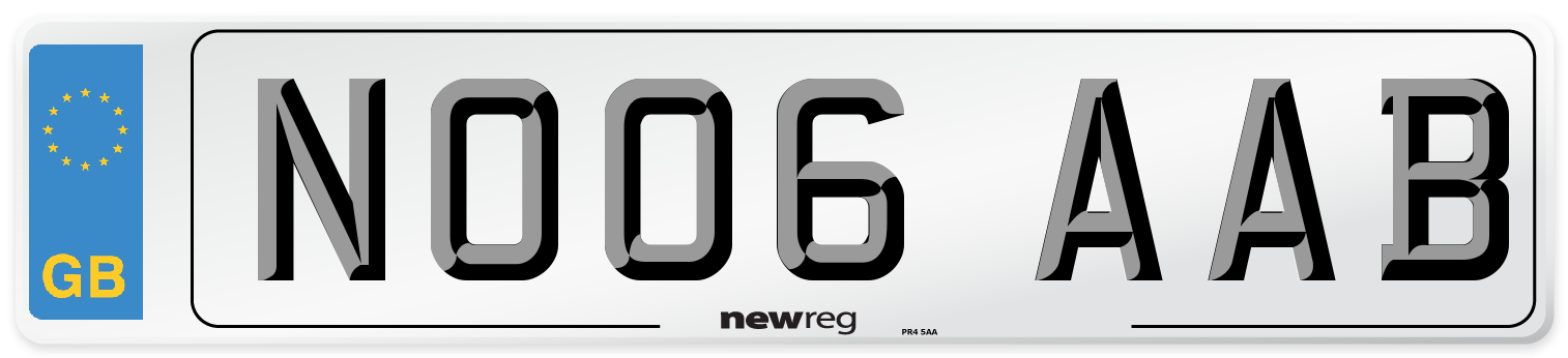 NO06 AAB Number Plate from New Reg