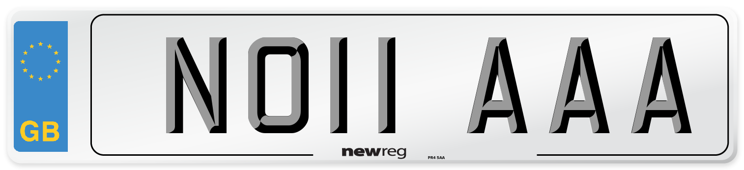 NO11 AAA Number Plate from New Reg