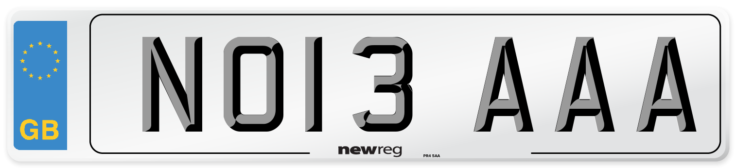 NO13 AAA Number Plate from New Reg