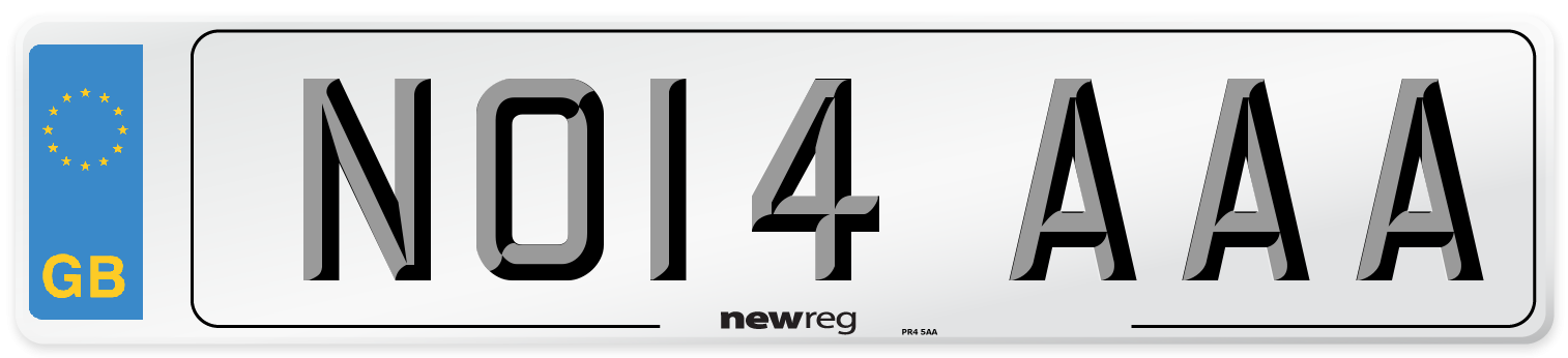 NO14 AAA Number Plate from New Reg