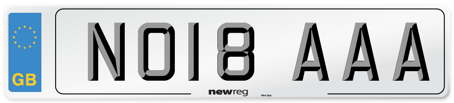 NO18 AAA Number Plate from New Reg