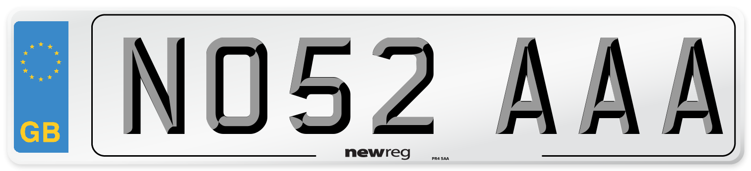 NO52 AAA Number Plate from New Reg