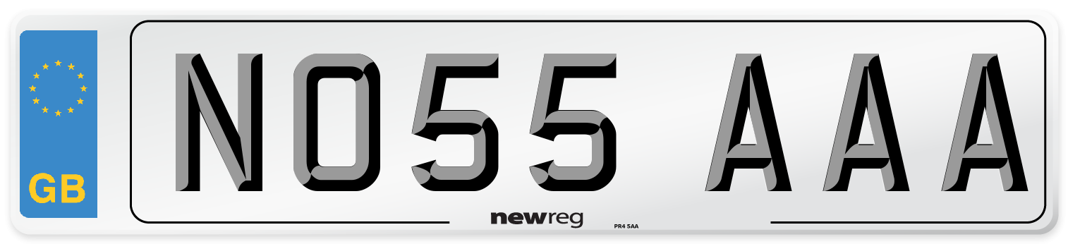 NO55 AAA Number Plate from New Reg