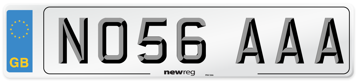 NO56 AAA Number Plate from New Reg