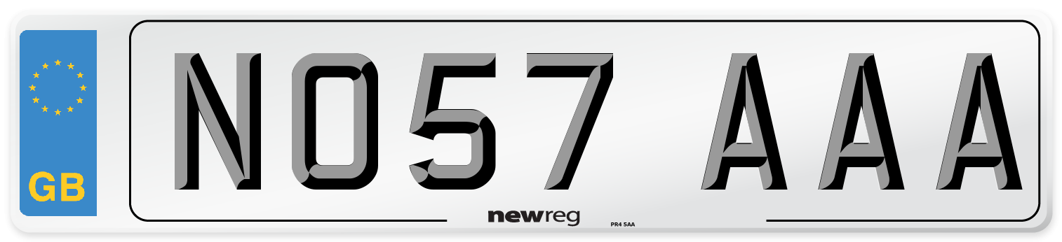 NO57 AAA Number Plate from New Reg