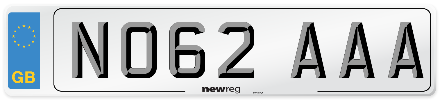 NO62 AAA Number Plate from New Reg