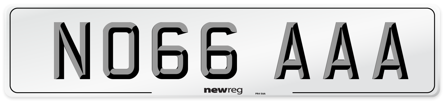 NO66 AAA Number Plate from New Reg