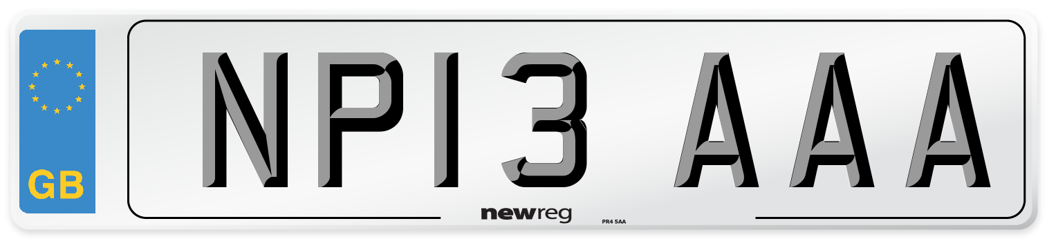 NP13 AAA Number Plate from New Reg