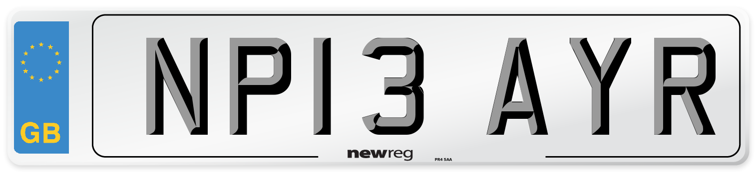 NP13 AYR Number Plate from New Reg