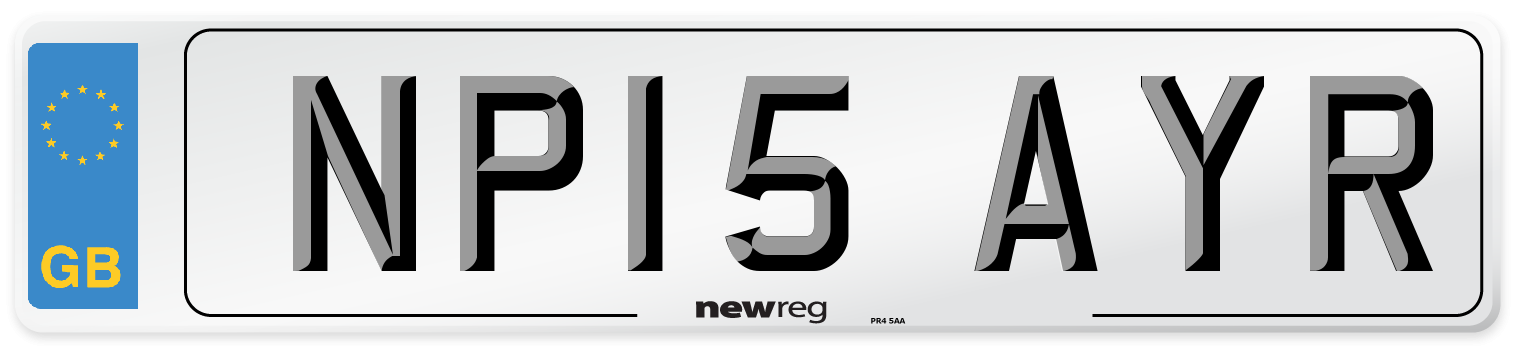 NP15 AYR Number Plate from New Reg