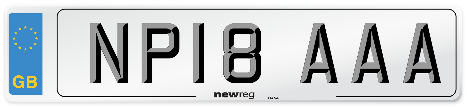 NP18 AAA Number Plate from New Reg