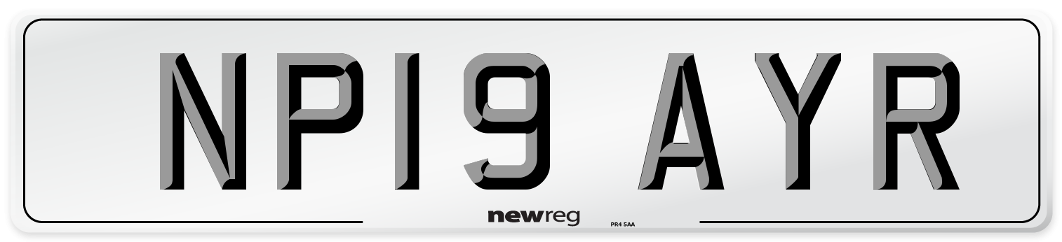 NP19 AYR Number Plate from New Reg