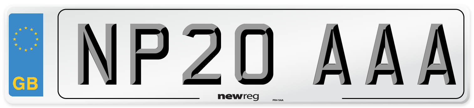 NP20 AAA Number Plate from New Reg