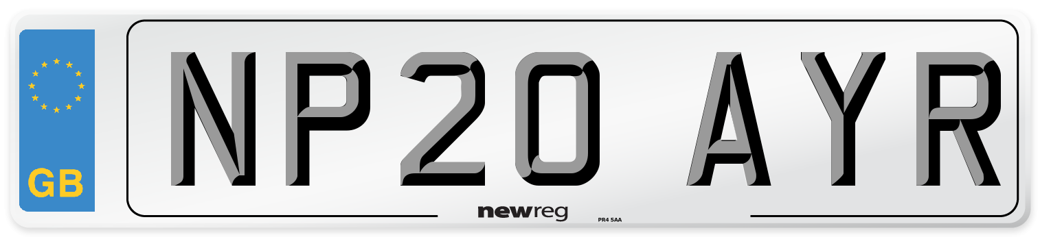NP20 AYR Number Plate from New Reg