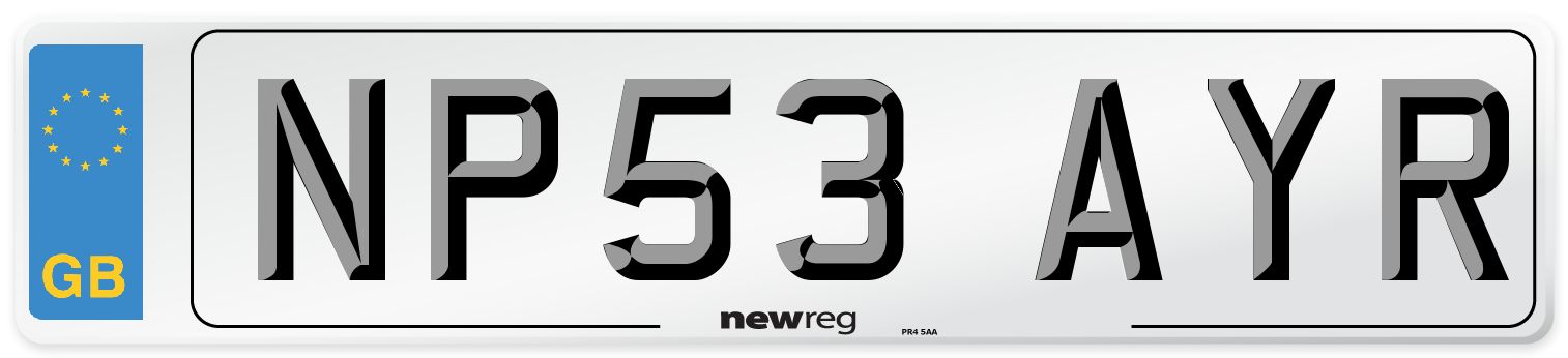 NP53 AYR Number Plate from New Reg