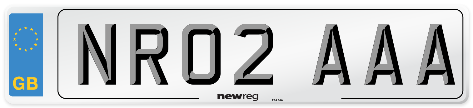 NR02 AAA Number Plate from New Reg