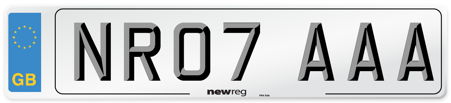 NR07 AAA Number Plate from New Reg