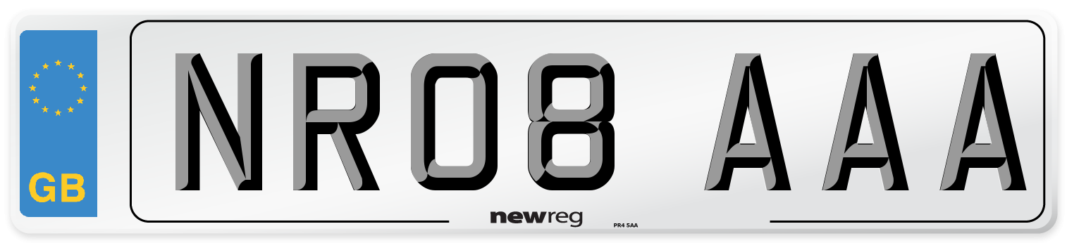 NR08 AAA Number Plate from New Reg