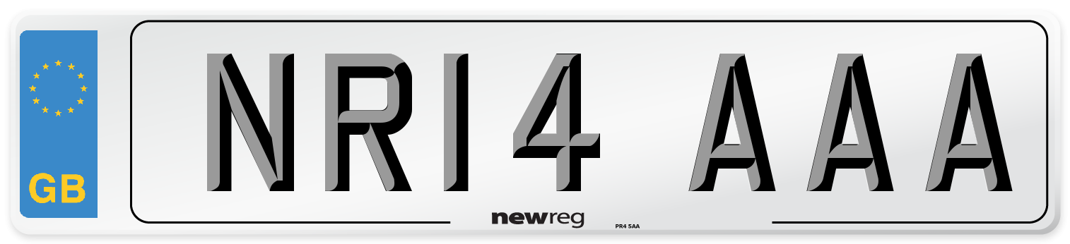 NR14 AAA Number Plate from New Reg