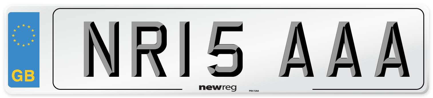 NR15 AAA Number Plate from New Reg