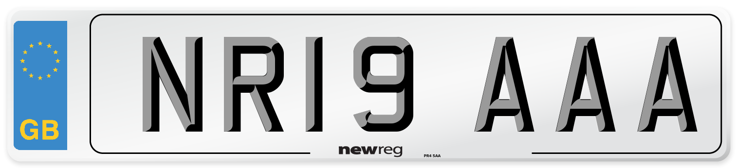 NR19 AAA Number Plate from New Reg