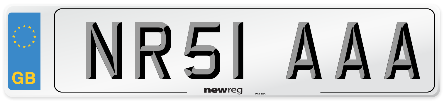 NR51 AAA Number Plate from New Reg