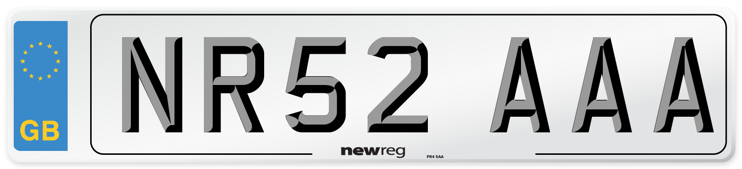 NR52 AAA Number Plate from New Reg