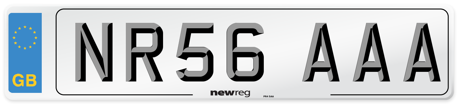 NR56 AAA Number Plate from New Reg