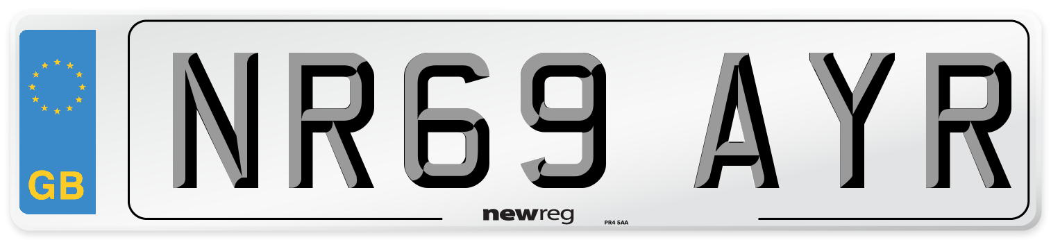 NR69 AYR Number Plate from New Reg
